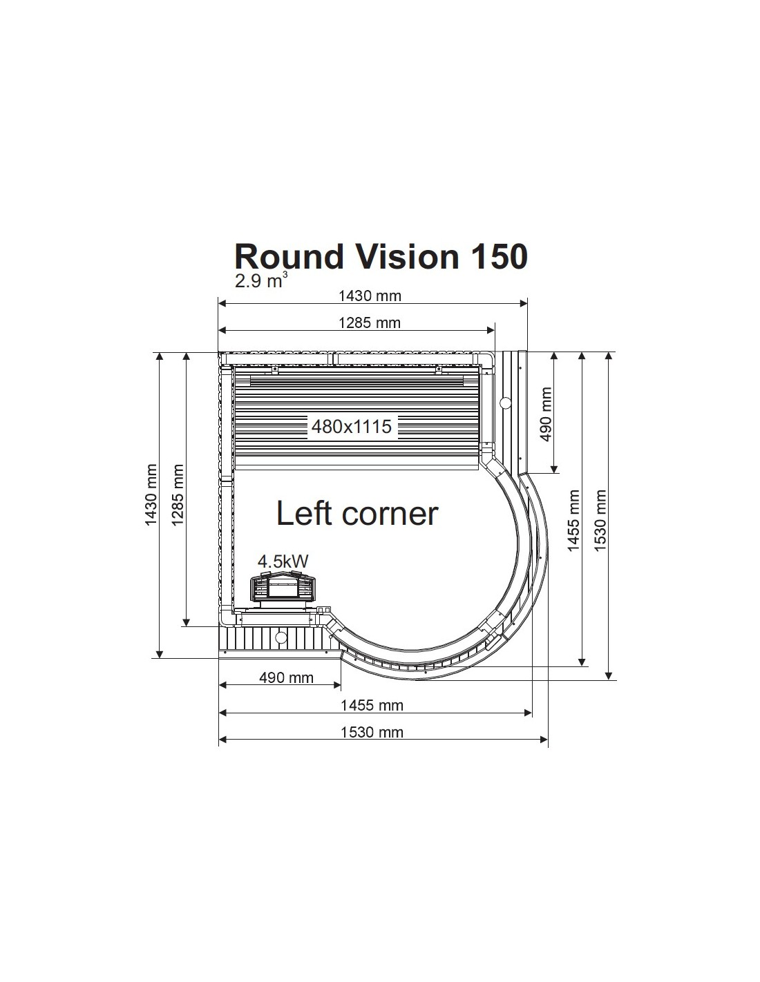 Round Vision 150 Tylo Espa 241 A